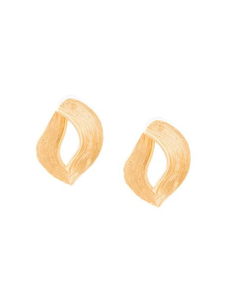 oscar de la renta women earrings yellow orange jewels