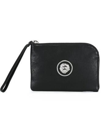 embellished bag clutch black