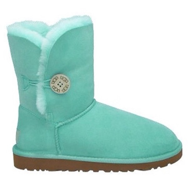 shoes, light green, ugg boots, ugg boots, bailey button, ugg bailey button - Wheretoget