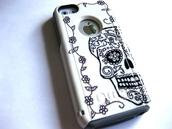 phone cover,iphone cover,iphone case,iphone 5c,etsy,etsy sale,iphone,glitter,skull,sugar skull case,sugar skull,5c,5c case