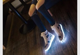 shoes light up camo jacket high top sneakers