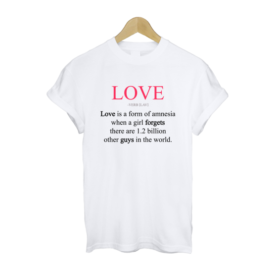Love Is a Form of Amnesia T Shirt £11   Free UK Delivery - #TeeIsland