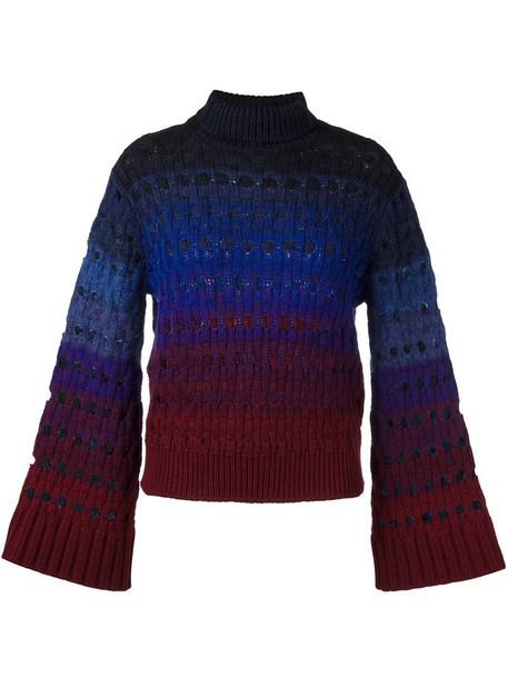 jumper women mohair blue wool sweater