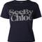 See by chloé - floral logo t-shirt - women - cotton - l, blue, cotton