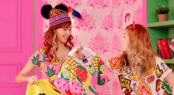 t-shirt K-pop snsd colorful fruits print cute top girls generation