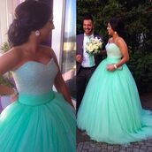 dress,molly_bridal,mint green prom dress instagram floral decal,ball gown prom dresses,sweetheart evening dresses,prom dress