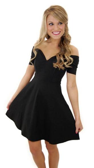 dress black dress flowy
