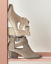shoes,sole society,taupe,suede shoes,boots,booties,suede booties,summer shoes,brown booties