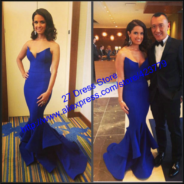 Aliexpress.com : Buy Stylish Royal Blue Sweetheart Satin Evening Dress Long Train Mermaid Formal Evening Gowns 2014 New Arrival from Reliable dress patterns evening gowns suppliers on 27 Dress