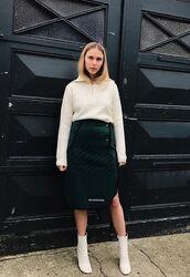 skirt,sweater,boots,pernille teisbaek,blogger,instagram,midi skirt,fall outfits