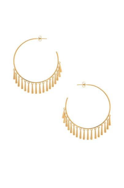 gorjana Kona Hoop Earrings in gold / metallic