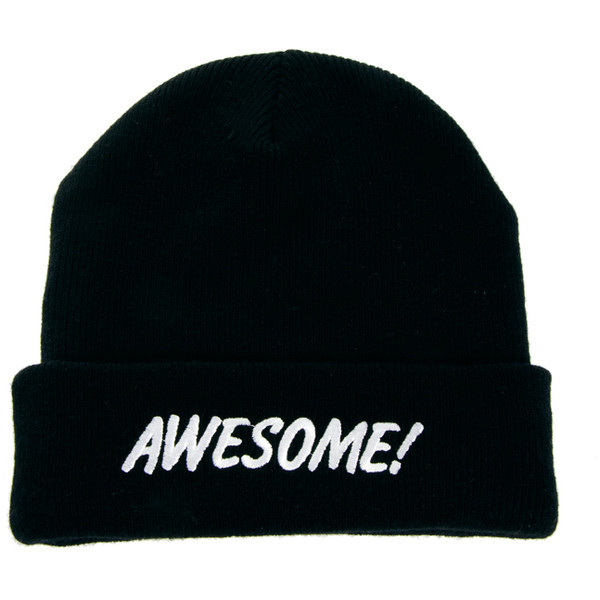 Lazy Oaf Awesome Beanie Hat - Polyvore