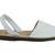 Mibo Avarcas Women's Classics White Leather Slingback Sandals