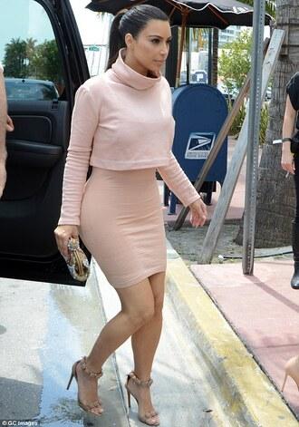 kim kardashian turtleneck turtleneck dress