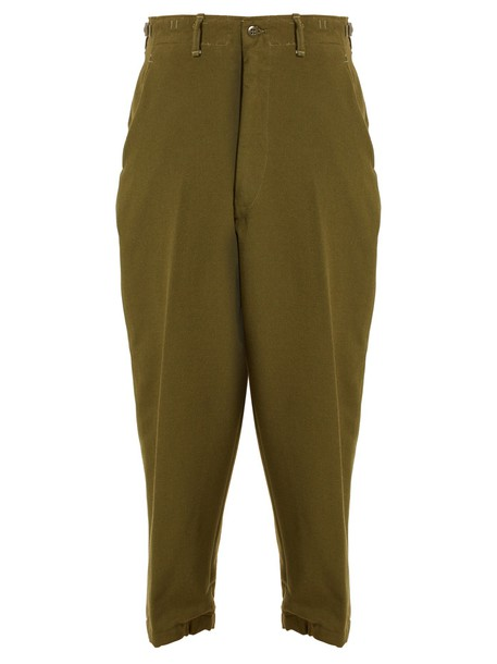 wool green pants