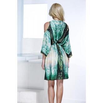 dress resort wear baccio baccio couture blue green print silk dresses bikiniluxe