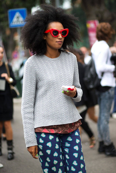 streetstyle fashion week 2014 sunglasses