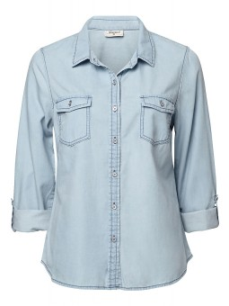 'Kate' Chambray Shirt - Shirts - Tops - Womens