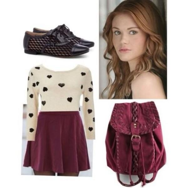 blouse sweater skirt bag