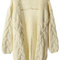 Loose cable knit cream cardigan | pariscoming