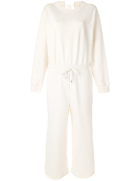 T by Alexander Wang jumpsuit back women white cotton