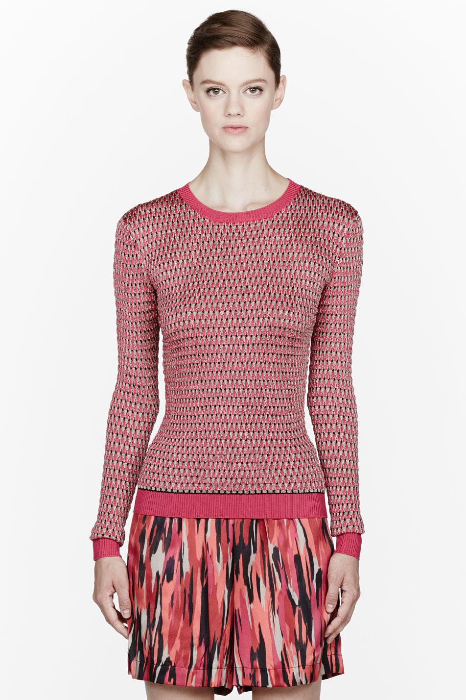 jonathan saunders fuchsia knit deborah sweater