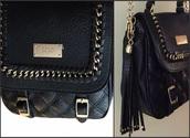bag,black quilted bag,quilted bag,black bag