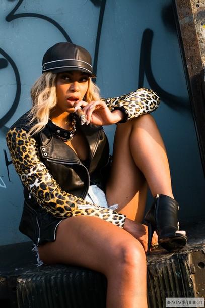 Jacket: leopard print, leather jacket, zip, swag, beyonce ...