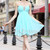 Exquisite Sleeveless Pick-Up Natural Tiered Bridesmaid Dress  with Applique