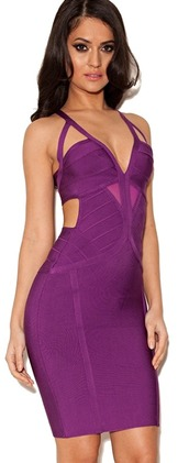 dress,dream it wear it,purple,purple dress,bodycon,bodycon dress,see through,strappy,strappy dress,v neck,v neck dress,plunge v neck,cut-out,cut-out dresss,cut-out dresses,cut-out dress,party,party dress,sexy,sexy dress,cocktail,cocktail dress,free shipping,summer,summer dress,summer outfits,girly,romantic summer dress,pool party