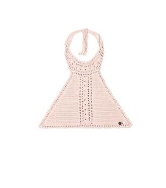 bikini bikini top crochet bikini crochet pink swimwear