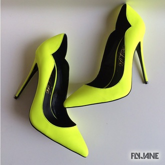 shoes neon high heels neon heels lust for life