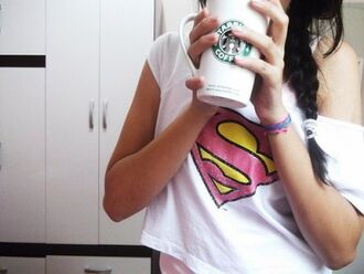 jewels starbucks superman mug girly