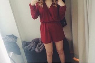 jumpsuit dress red dress