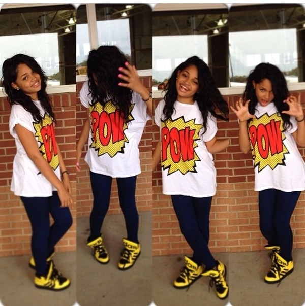 shirt coriyon jeans shoes pow on em pow pop art