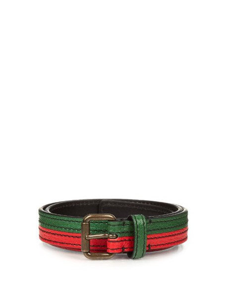 Tomas Maier belt leather red