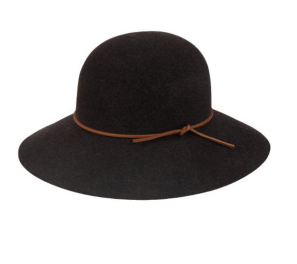 hat black wide brimmed hat