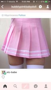 skirt,pink,kawaii,tennis skirt