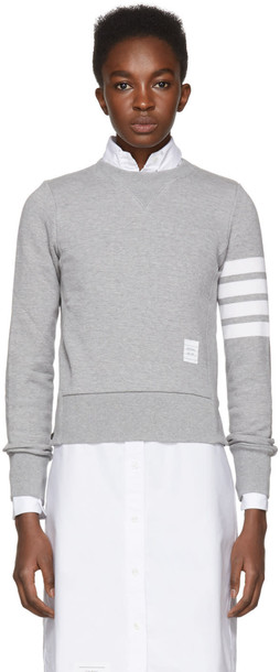 Thom Browne sweatshirt classic grey sweater