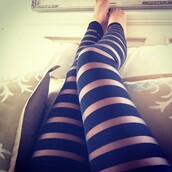 pants,leggings,mesh leggings,striped leggings,black