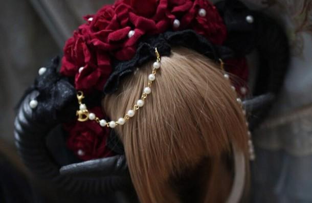 Hair Accessory Horn Cute Flowers Cute Headband Animal Horns Devil Goth Goth Style