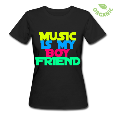 tee shirts music is my boyfriend tee shirt personnalis. Black Bedroom Furniture Sets. Home Design Ideas