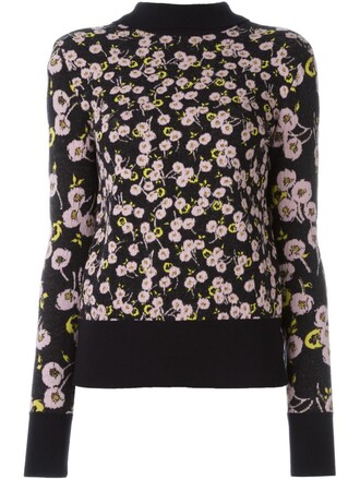 top knitted top floral black