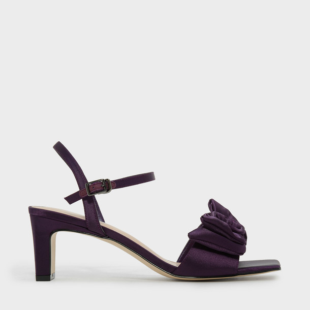 heel open sandals purple shoes