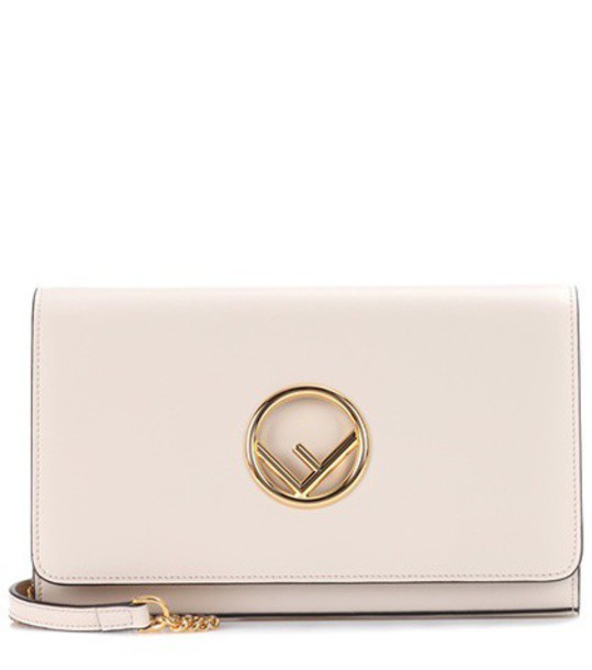 Fendi bag shoulder bag leather white
