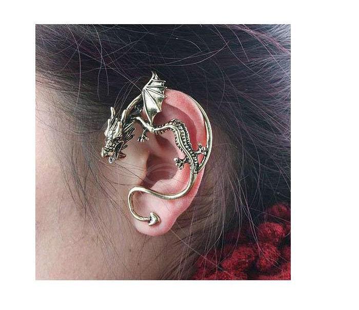 Dragon style cuff earring