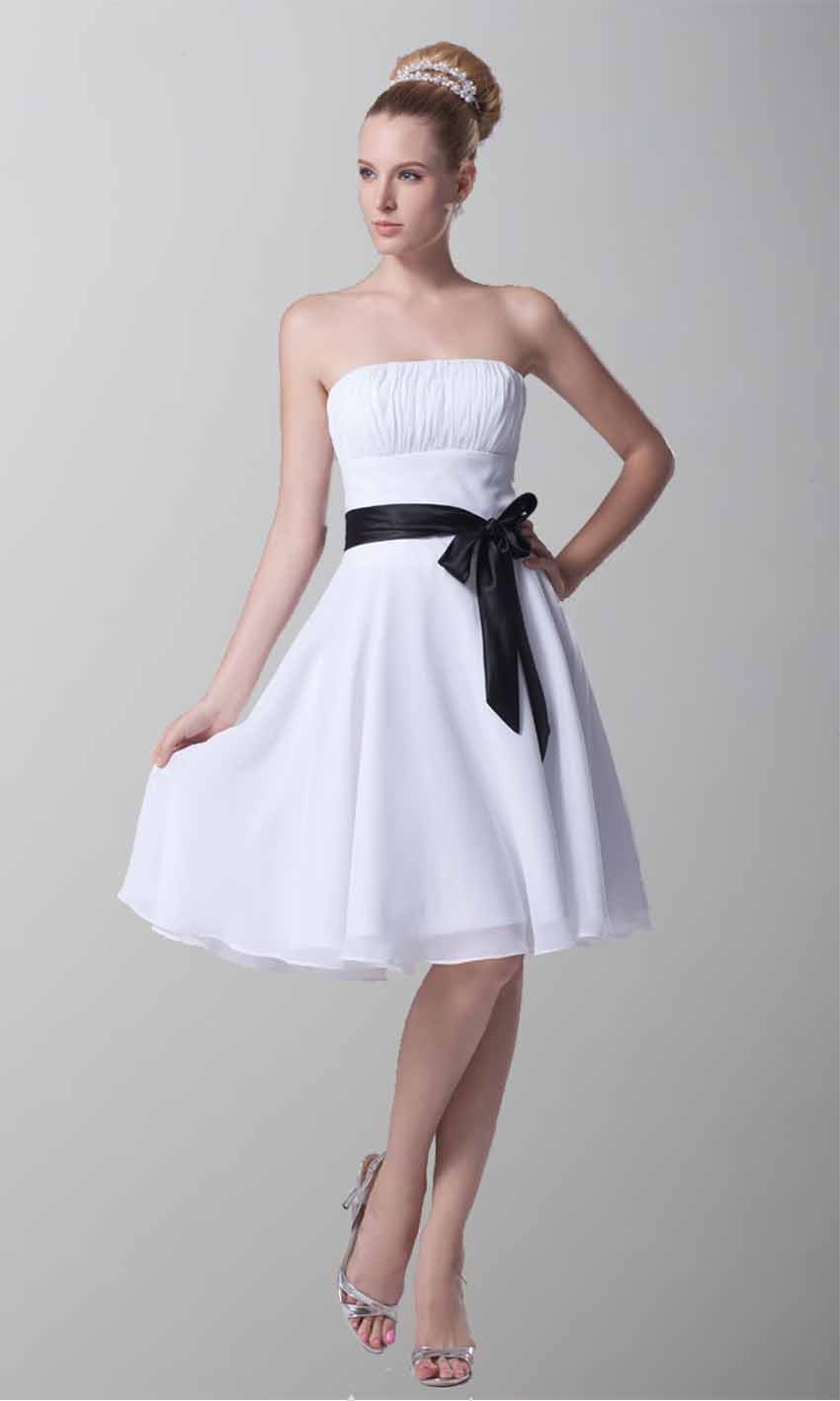 Classic Short Strapless White Belt Bridesmaid Dresses KSP218 [KSP218] - £94.00 : Cheap Prom Dresses Uk, Bridesmaid Dresses, 2014 Prom & Evening Dresses, Look for cheap elegant prom dresses 2014, cocktail gowns, or dresses for special occasions? kissprom.co.uk offers various bridesmaid dresses, evening dress, free shipping to UK etc.