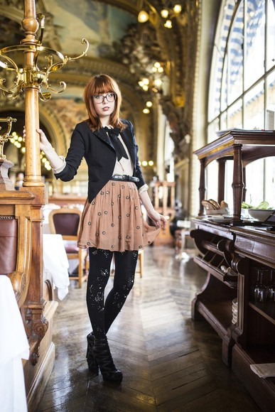 miss pandora jacket shoes skirt t-shirt