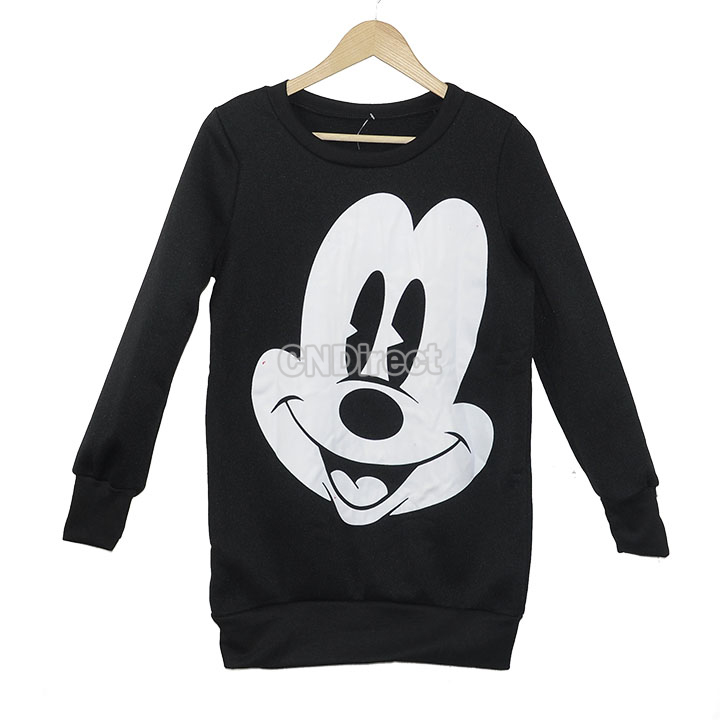 New Arrival Cartoon Plus Size Round Neck Sweatshirt