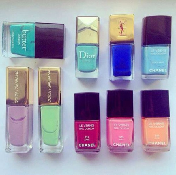nail accessories yves saint laurent chanel dolce and gabbana